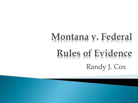 "Randy J. Cox.  F.R.E. 301 is short and vague, with no definition of ""presumption.""  Note F.R.E. 302 provides that state law governs the effect of presumptions."