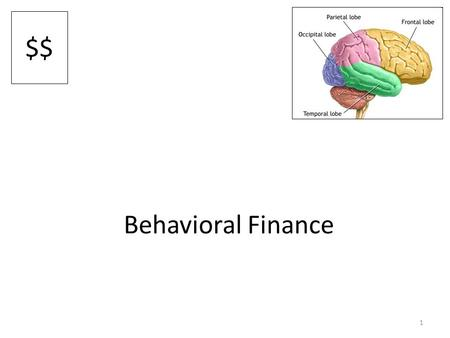 1 Behavioral Finance $$. 2 Why do financial advisors exist? Know active stock picking rarely produces winners – Efficient markets tells us information.