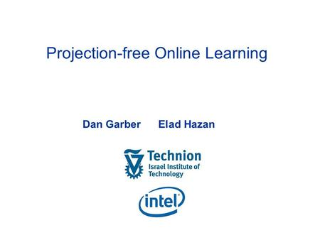 Projection-free Online Learning