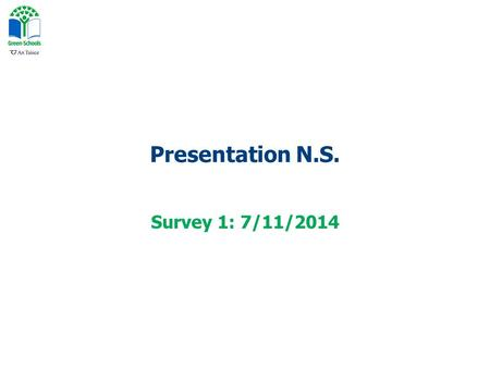 Presentation N.S. Survey 1: 7/11/2014. How do you usually travel TO school?