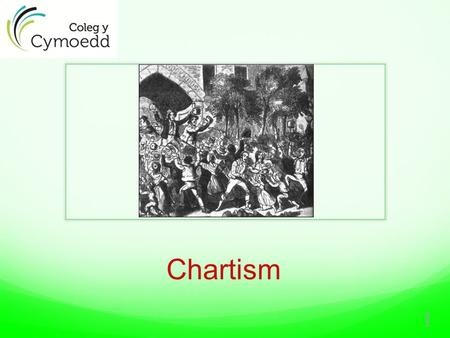 Chartism 1.  Chartism was a predominantly working class political movement which existed between 1836 – 50, which attempted to address working class.