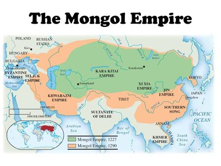 The Mongol Empire. The Steppe The Asian Steppe EASTERN First home of: Huns, Turks, Mongols Very little rain creates dry, short grasses WESTERN First.
