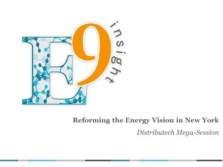 Reforming the Energy Vision in New York Distributech Mega-Session.