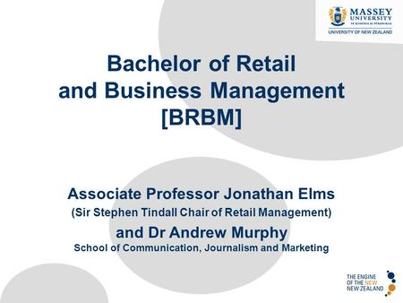 Bachelor of Retail and Business Management [BRBM]
