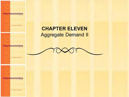 CHAPTER ELEVEN Aggregate Demand II.