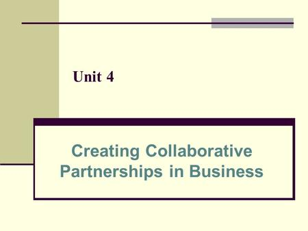 Creating Collaborative Partnerships in Business