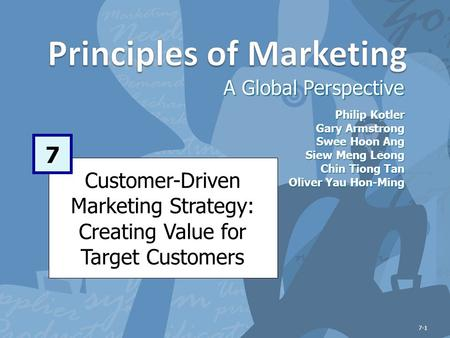 customer driven marketing strategy creating value Part 1 : defining marketing and the marketing process chapter 1 marketing: creating and capturing customer value chapter 2 company and marketing strategy.