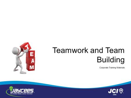 Teamwork and Team Building Corporate Training Materials.