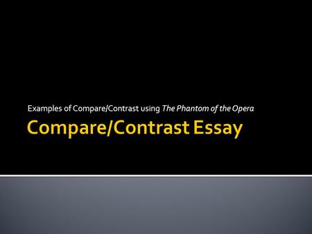 Compare and contrast the poems the
