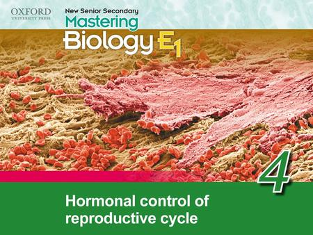 Think about… 4.1 Hormonal control of the menstrual cycle 4.2 Use of hormones Recall 'Think about…' Summary concept map.
