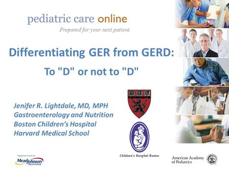 Differentiating GER from GERD: To D or not to D