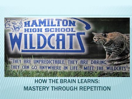 HOW THE BRAIN LEARNS: MASTERY THROUGH REPETITION.