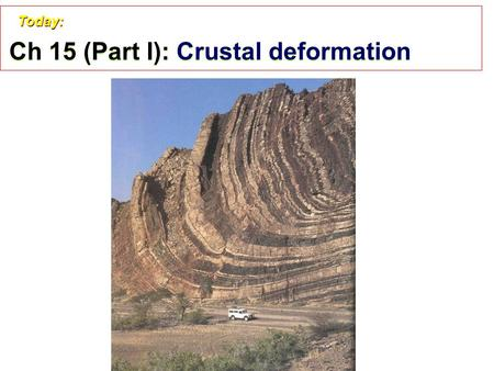 Ch 15 (Part I): Crustal deformation