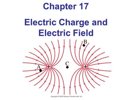 Chapter 17 Electric Charge and Electric Field Chapter 17 Electric Charge and Electric Field.