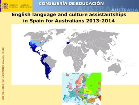 English language and culture assistantships in Spain for Australians 2013-2014.