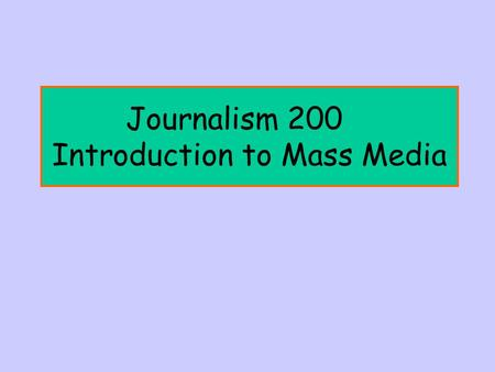 Journalism 200 Introduction to Mass Media. Q. How do I find articles in magazines, newspapers, and journals? A. Use EBSCOhost (12 databases, including.