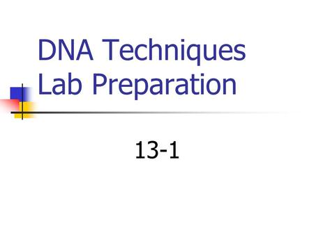 DNA Techniques Lab Preparation 13-1 Manipulating Genes Genetic Engineering: You can repair genes, insert genes, excise genes or replace genes with gene.
