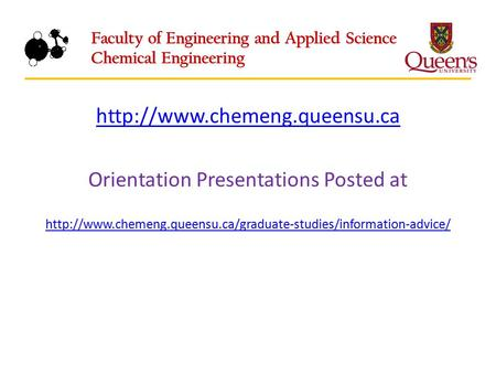 Orientation Presentations Posted at