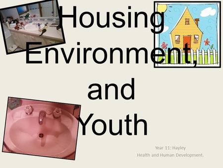 Year 11: Hayley Health and Human Development. Housing Environment, and Youth.
