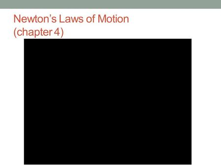 Newton's Laws of Motion (chapter 4). Newton's 1 st Law of Motion An object at rest will remain there unless a force acts on it; likewise, a moving object.