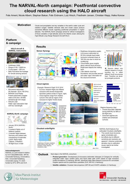 The NARVAL-North campaign: Postfrontal convective cloud research using the HALO aircraft Felix Ament, Nicole Albern, Stephan Bakan, Felix Erdmann, Lutz.