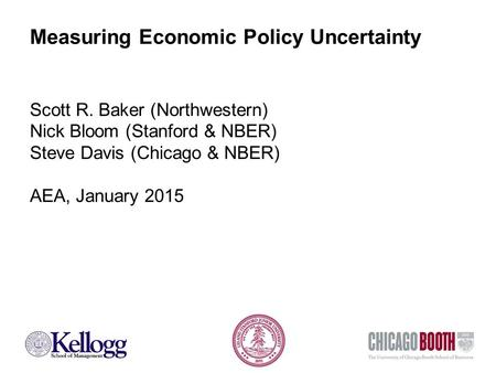 Measuring Economic Policy Uncertainty Scott R