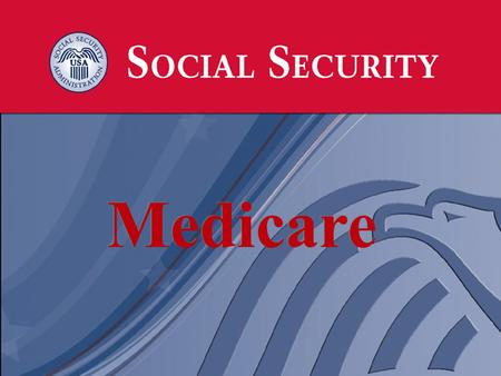 1 1 Medicare. 2 2 Four Parts of Medicare: Medicare Part A – Hospital Insurance Medicare Part B – Medical Insurance Medicare Part C – Medicare Advantage.