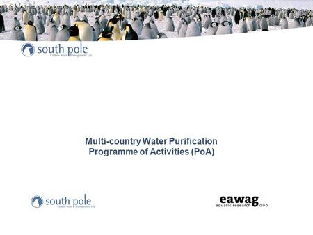 Multi-country Water Purification Programme of Activities (PoA)