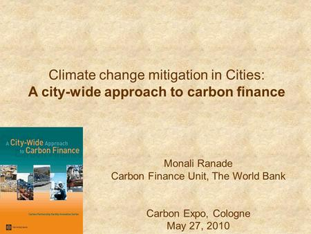 A city-wide approach to carbon finance