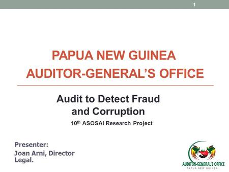 Papua New GuineA Auditor-General'S Office