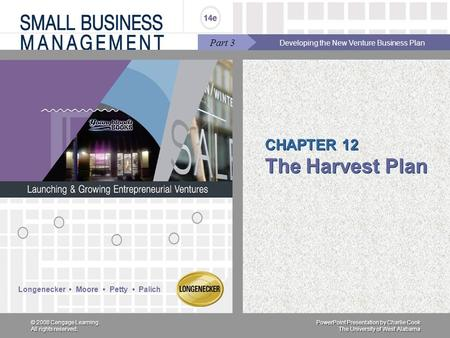 CHAPTER 12 The Harvest Plan