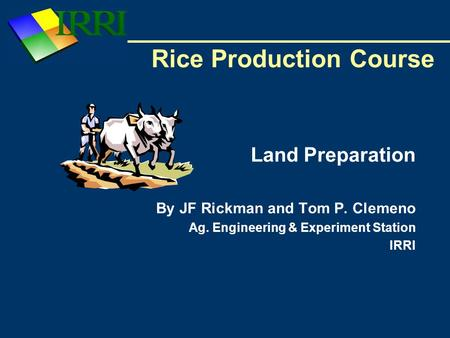 Rice Production Course