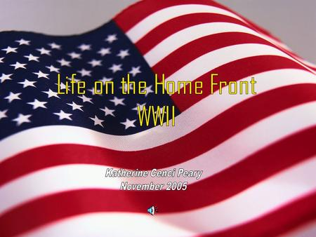 Life on the Homefront WWII. Introduction World War II was a time of anxiety, fear, and sacrifice for soldiers but also for the family members that they.