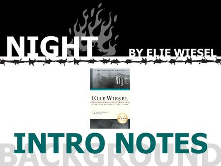 night by elie wiesel study guide