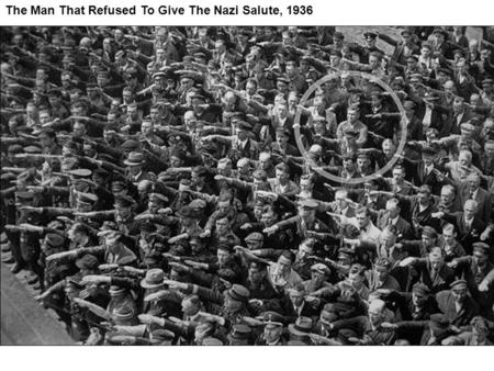 The Man That Refused To Give The Nazi Salute, 1936.