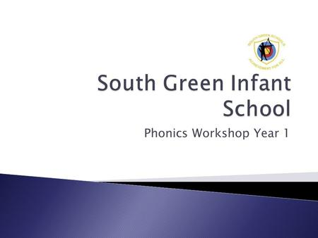 Phonics Workshop Year 1.  A screening check for year one to encourage schools to teach phonics to a high standard.  Aimed at identifying the children.