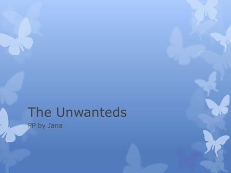 The Unwanteds PP by Jana. Alex  Alex Stowe knew he was Unwanted since age ten, but even three years of preparation for the Purge didn't help the shock,