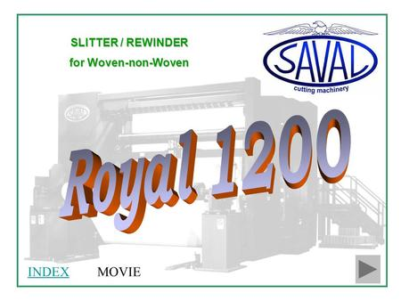 SLITTER / REWINDER for Woven-non-Woven MOVIEINDEX.