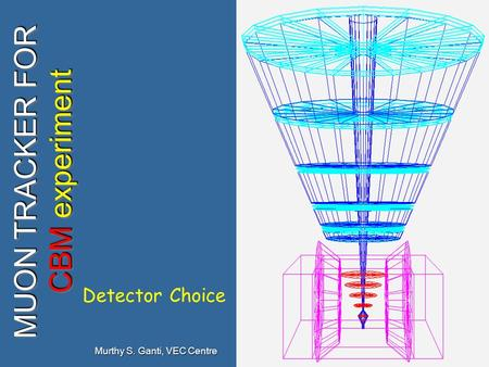 1 MUON TRACKER FOR CBM experiment Murthy S. Ganti, VEC Centre Detector Choice.
