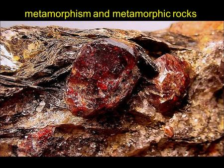 Metamorphism and metamorphic rocks. the rock cycle.