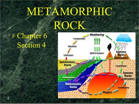 METAMORPHIC ROCK Chapter 6 Section 4.