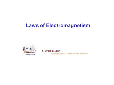 Laws of Electromagnetism. Beginning of Electromagnetics Henry Cavendish Coulomb's Law Ohm's Law Relation to Maxwell.