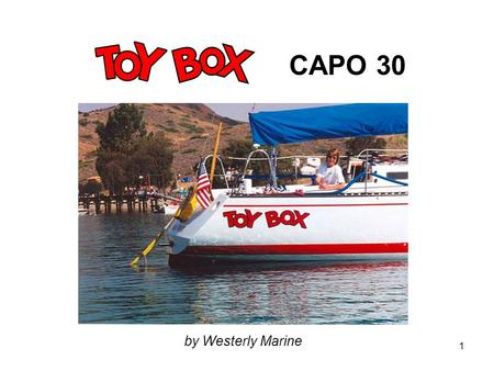 CAPO 30 by Westerly Marine.