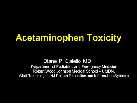 Acetaminophen Toxicity