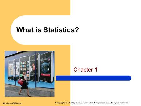 What is Statistics? Chapter 1.
