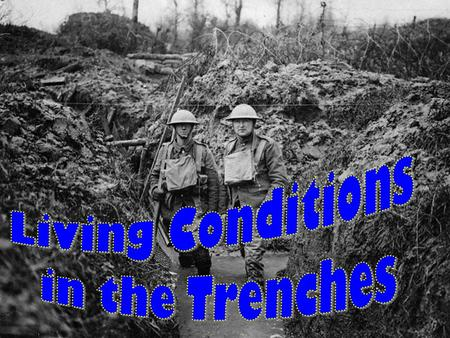 Aims: What living conditions were like for soldiers in the trenches.