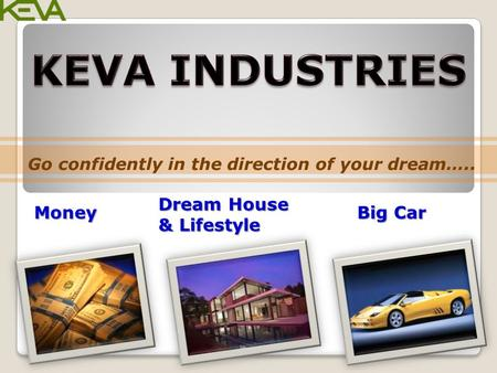 Go confidently in the direction of your dream….. Money Dream House & Lifestyle Big Car.