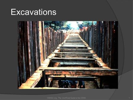 Excavations OSHAX.org - The Unofficial Guide to the OSHA1.