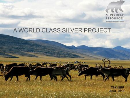 TSX: SBR April, 2012 A WORLD CLASS SILVER PROJECT.