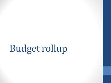 Budget rollup. Current budget categories 6300 Student Hourly 7100 Cost of Goods 7200 Library Expenses 7300 Operating Expenses 7330 Travel 7400 Purchased.